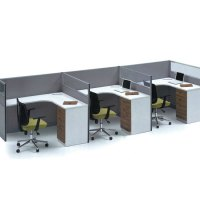 office desk 3 person office workstation office furniture ...