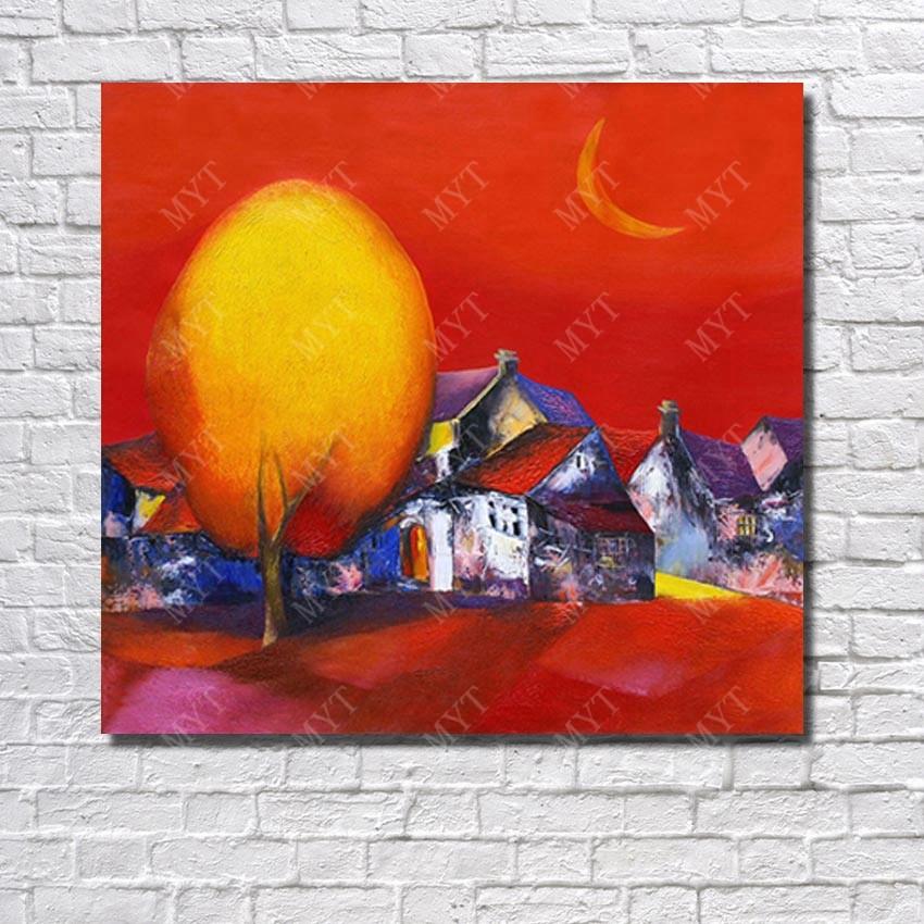 ᗕModerna pintura de paisaje hecho a mano imagen de dibujos animados ...