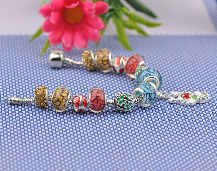 49b8fbecea ᗑ 2016 New European charms rhinestone bracelet Alloy charm ...