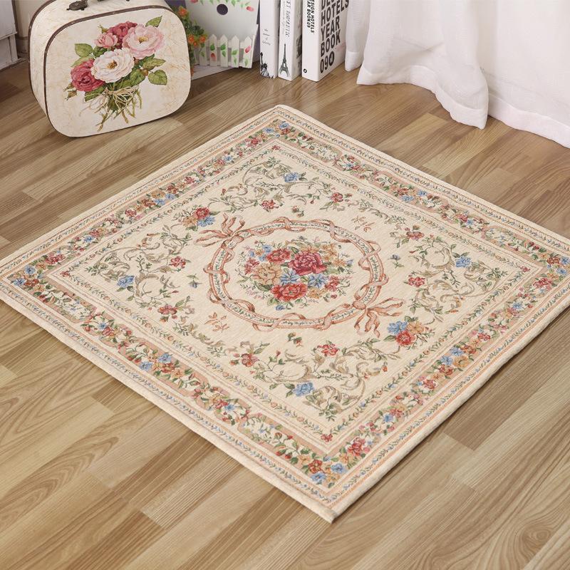 Special pastoral beige carpet square entrance mats scratch