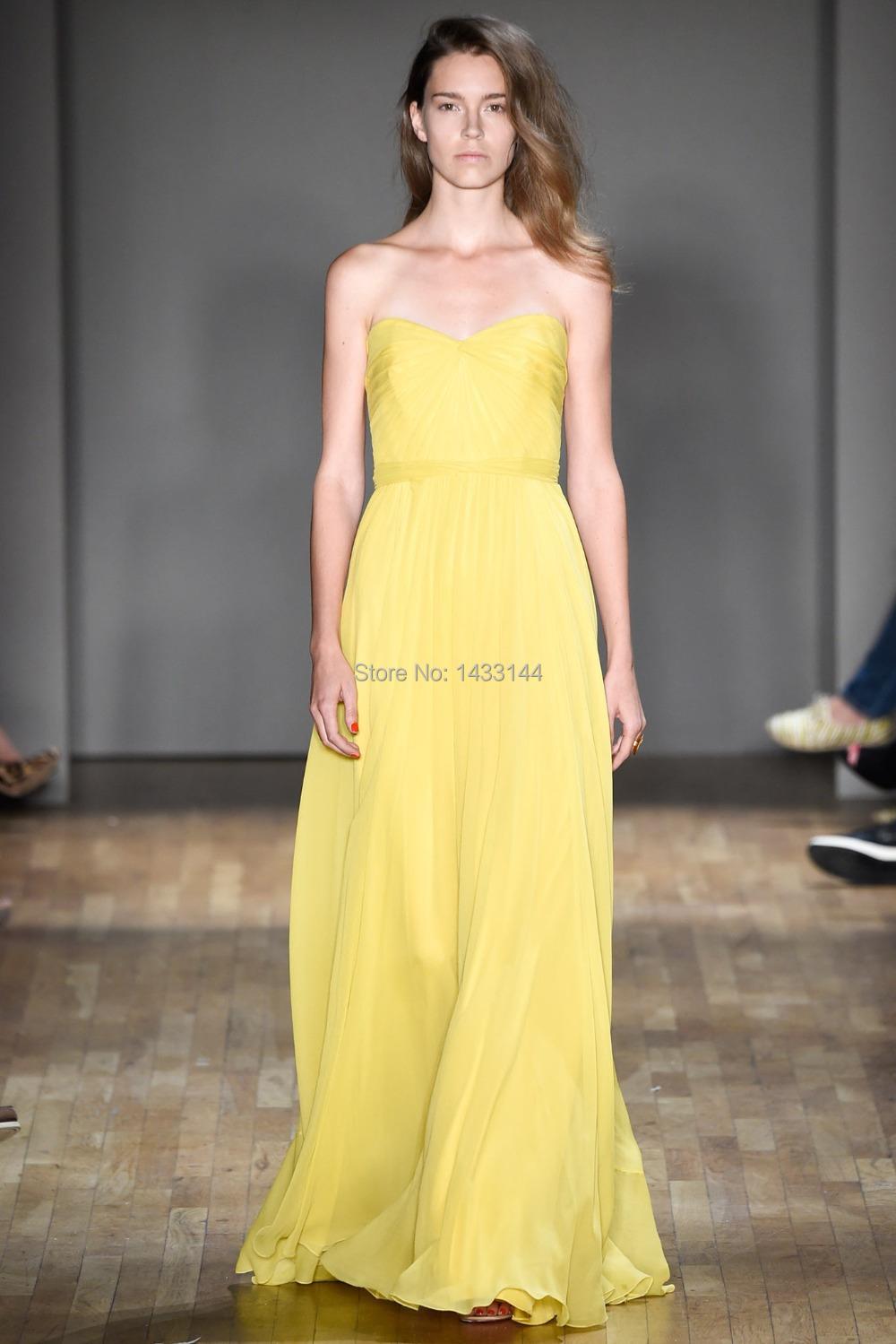 Long Yellow Bridesmaid Dresses Packham 2015 Bright Colored