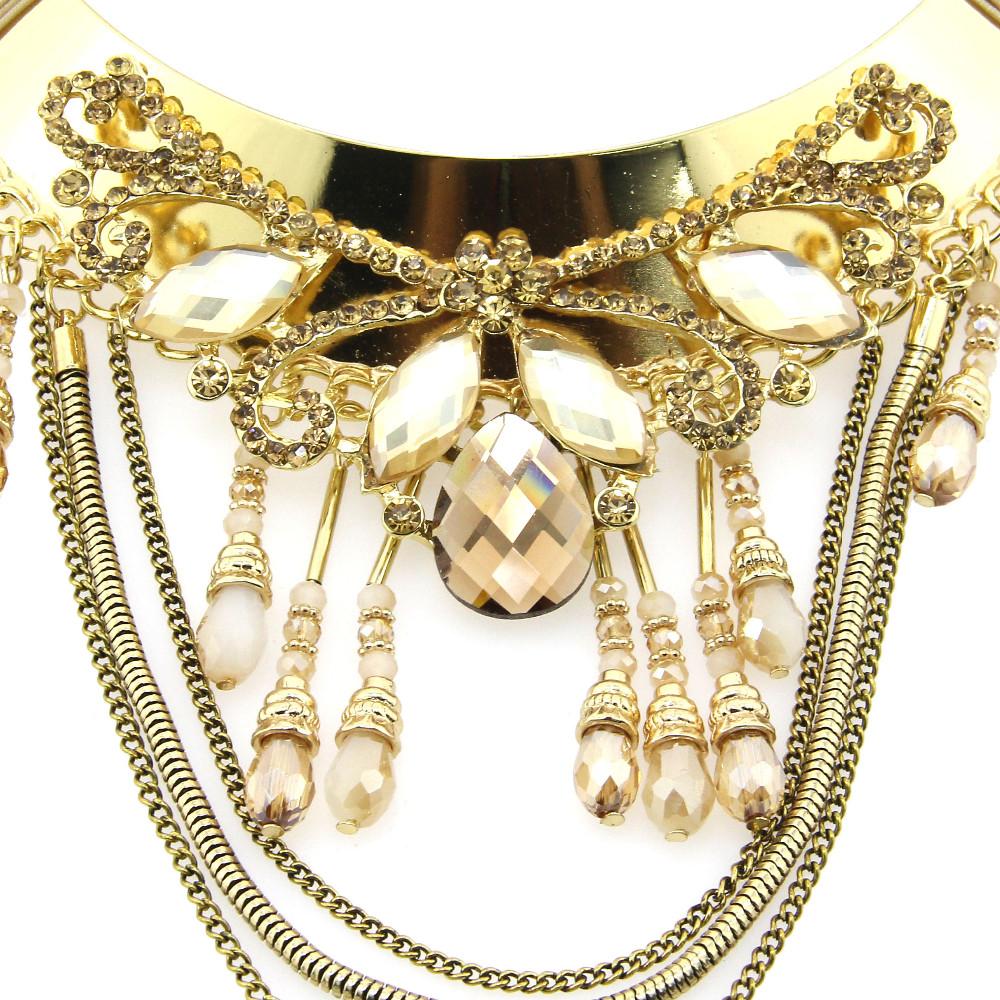 1pc bronze couleur gros strass Pendentif Croix Bijoux Making Craft UK