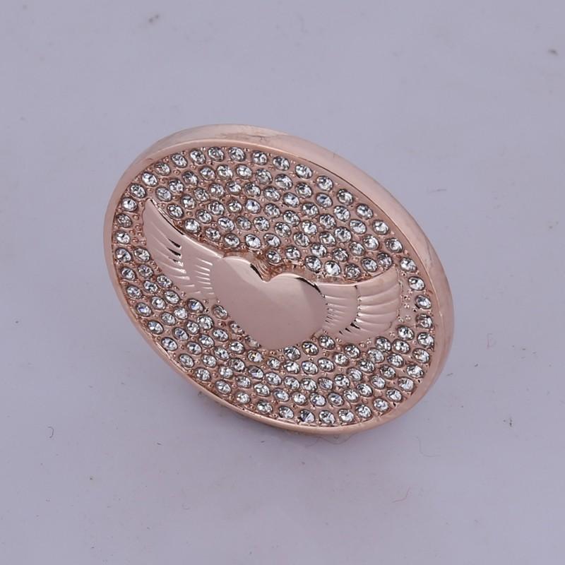 ⊹Nuevo oro rosa Ángel alas 35mm monedero marco COLLAR COLGANTE ...