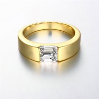 24K Yellow Gold / Rose Gold / Pt950 Platinum Plated Men ...