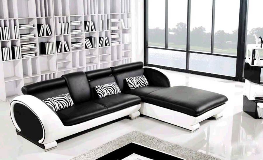 black leather sofa set price in india disney princess marshmallow detail feedback questions about modern design small l shaped getsubject aeproduct