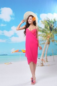 Cheap Chiffon Hot Sexy Girl Wrap Front Summer Cover Up ...