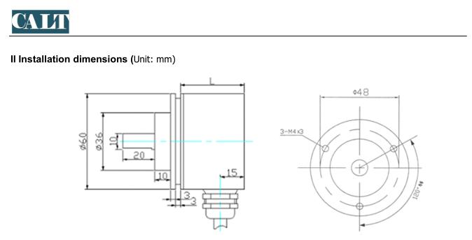 Modbus Rtu Multiturns Absolute Rotary Encoder With Slider