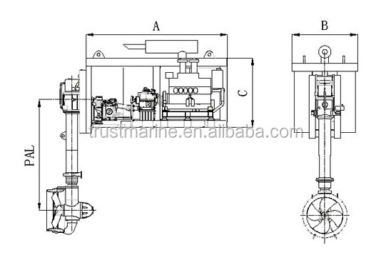 NDRP series Marine Deck Combined Azimuth Thruster, View