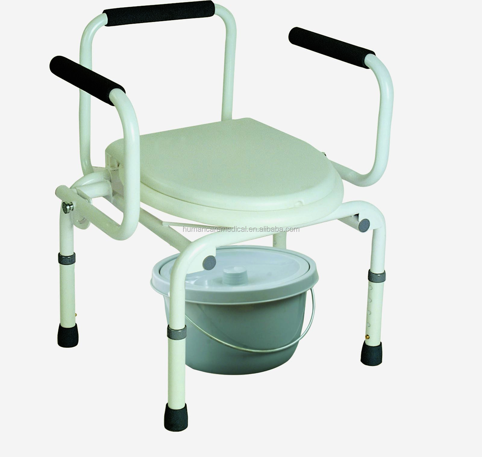 Folding Commode Chair Economy Folding Commode Chair With Caster Mobile Commode