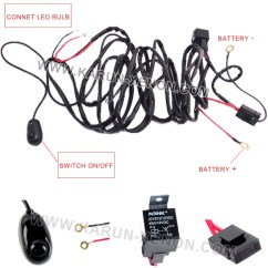 Led Light Bar Wiring Diagram With Relay 1998 Honda Accord Alarm 40 Amp Off Road Atv/jeep Wrangler Harness & On/off Switch - Buy ...