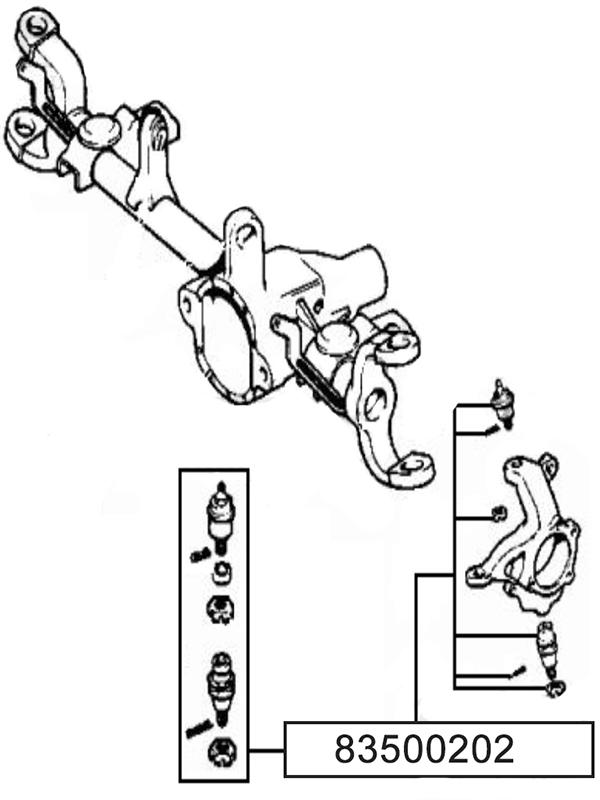 83500202 avant supérieure et inférieure rotule Kit pour