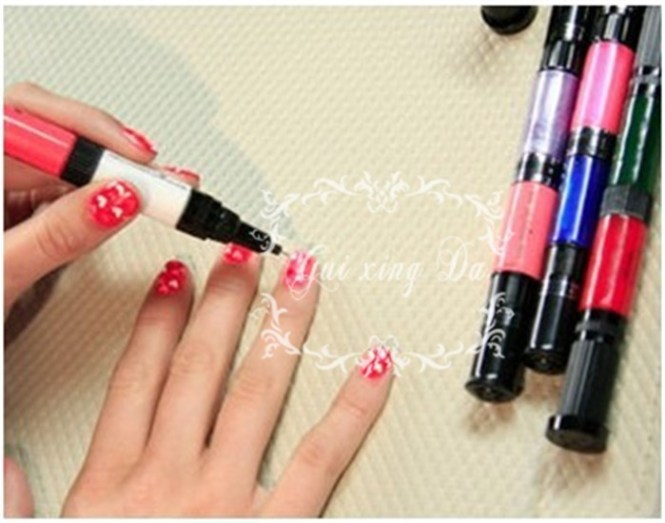 Alat Hias Kuku 6 Warna Hot Design Nail Art Pen Color