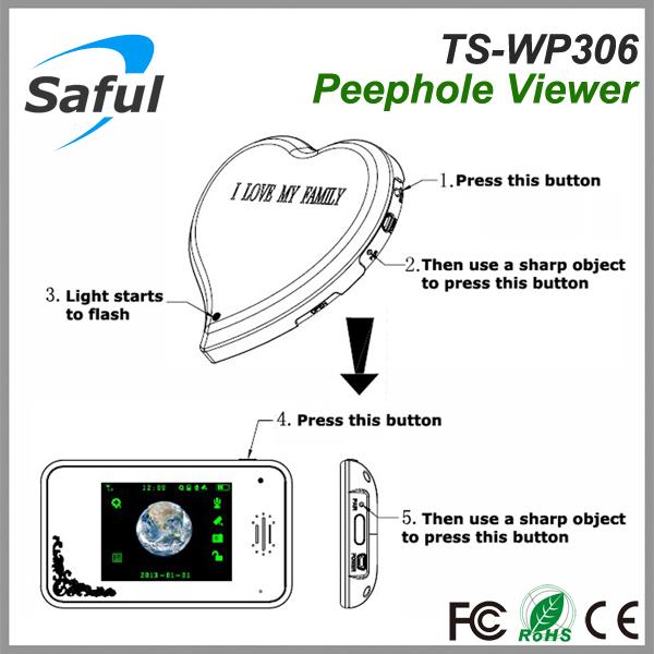 3.5 Inch Saful Ts-wp306 2.4ghz Wireless Digital Door