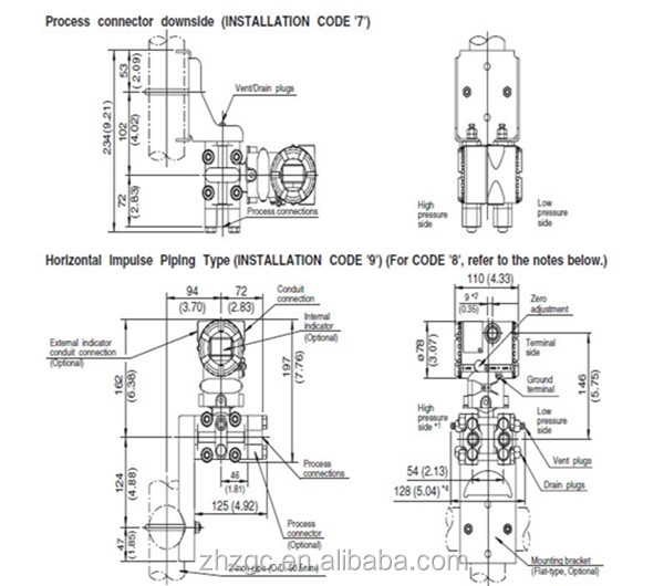 Original Yokogawa Eja Gauge Pressure Transmitter; Eja110e
