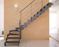 L Shape Wood Treads Staircase Stainless Steel Staircase ...