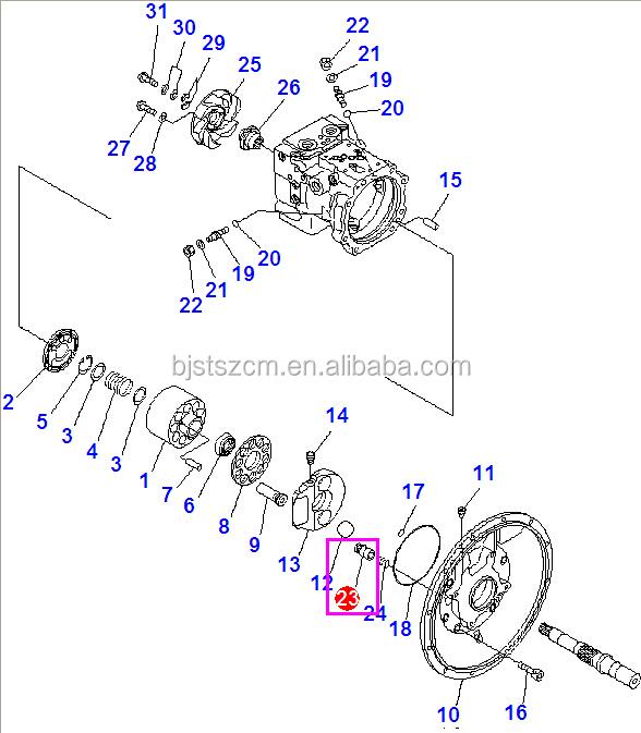 High Quality Excavator Parts Pc78us-6 Hydraulic Pump Parts