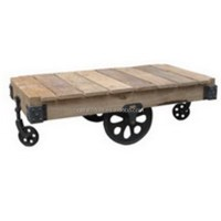 Industrial Coffee Table With Wheels - Buy Industrial ...