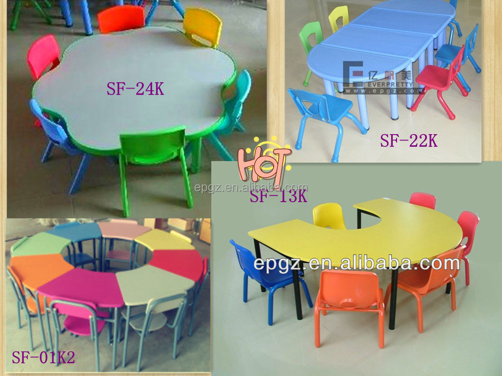 daycare table and chair set office chairs under 50 dollars c shape children hand painted kids