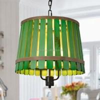 Green Bamboo Popular Wooden Shade Decorative Pendant Lamp ...
