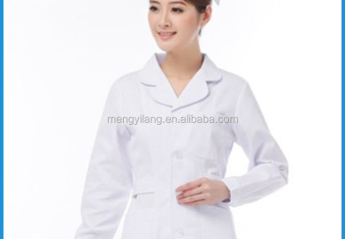 White Long Sleeve Nurses Dress Uniforms