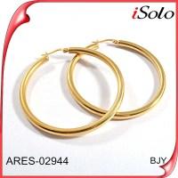 Fake Gold Hoop Earrings Women Big Ring Type Earrings - Buy ...