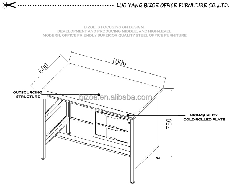 Knock Down Structure Students Study Table/office Desk