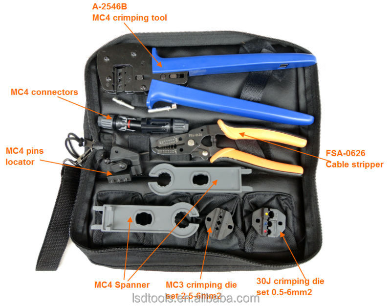 K2546b Crimping Tool And Wire Stripper Set Mc4 Mc3 Crimping Tool Use