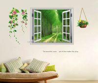 Outside window scene design vinyle wall sticker for home ...