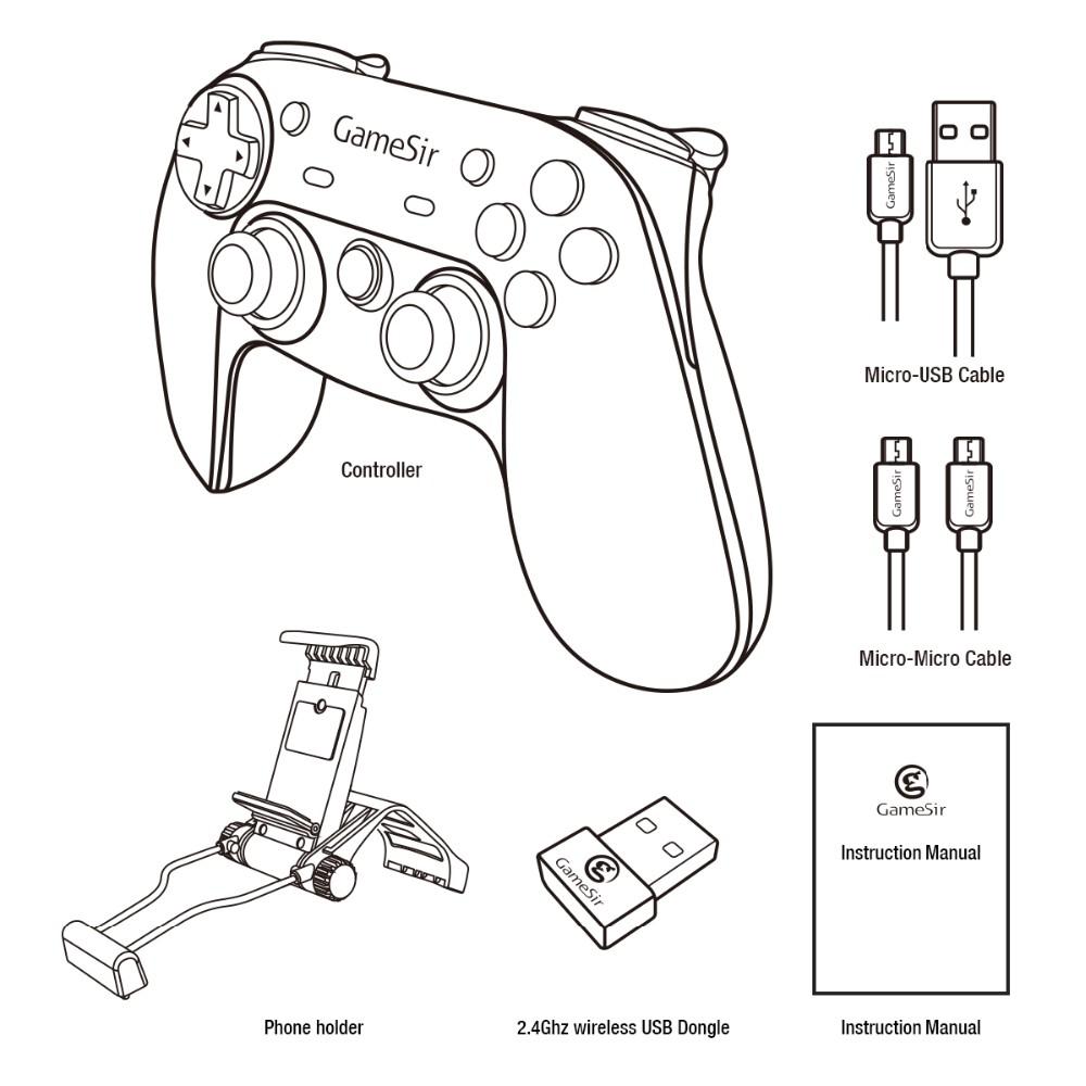 Gamesir Pc Usb Game Controller Pad Gamepad Joypad Joystick