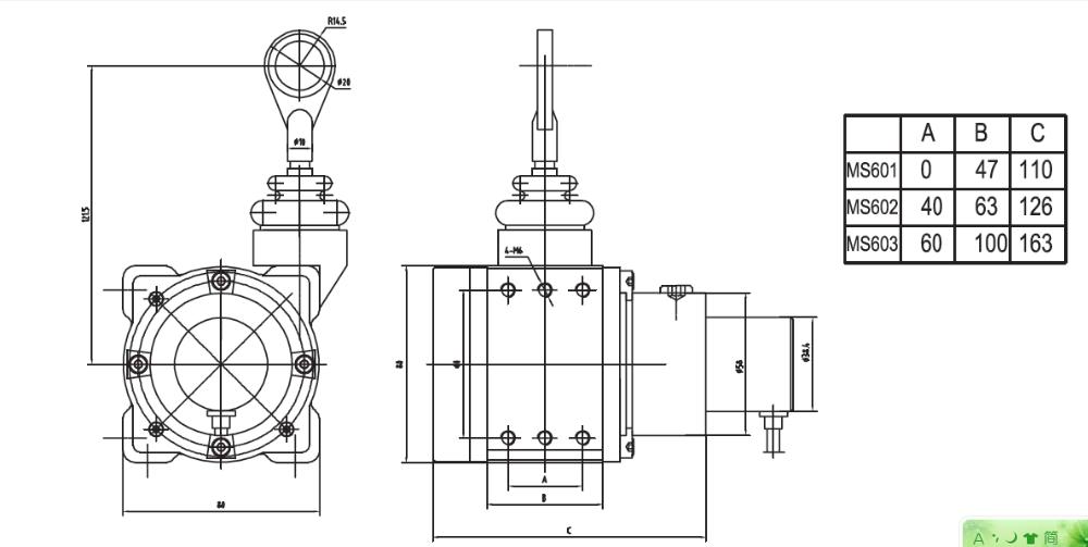 Kaisi Ms603-5000-420a Linear Potentiometer Position Sensor