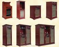 Home Used Freestanding Wine Cooler Cabinet Wooden Wine