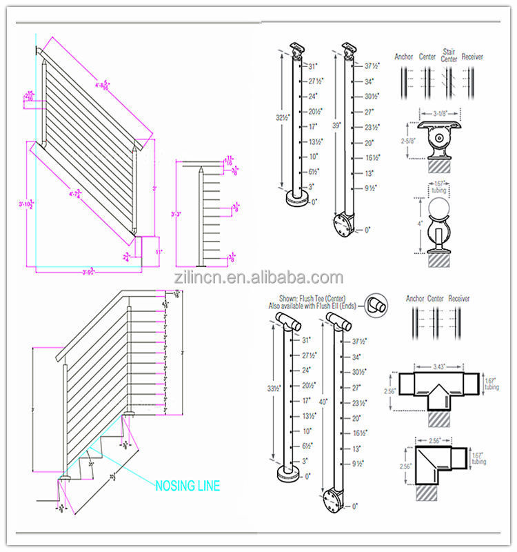 Diy Cable Railing / Wire Rope Railing Balustrade With