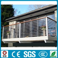 modern balcony wrought iron railing with top wood handrail ...