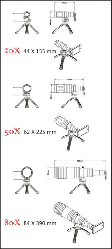 80x Zoom Telephoto Lens For Iphone 6,Iphone 6 Plus,Ipad