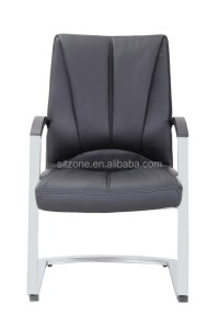 UBL-C001C leather visitor chair white leather visitor ...