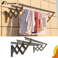 Wall Mounted Folding Clothes Drying Rack,Push-pull Folding ...