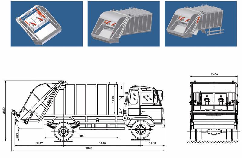 camiones de recogida de basura. Black Bedroom Furniture Sets. Home Design Ideas