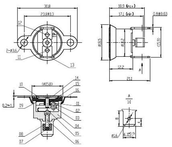T1m/33 Normally Open Wholesale Manual Reset Bimetal
