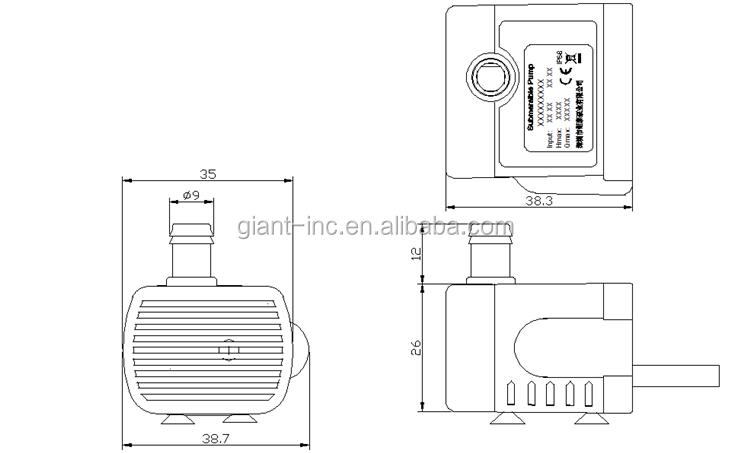 5v Mini Dc Water Pump/solar Water Submerged Pump/aquarium