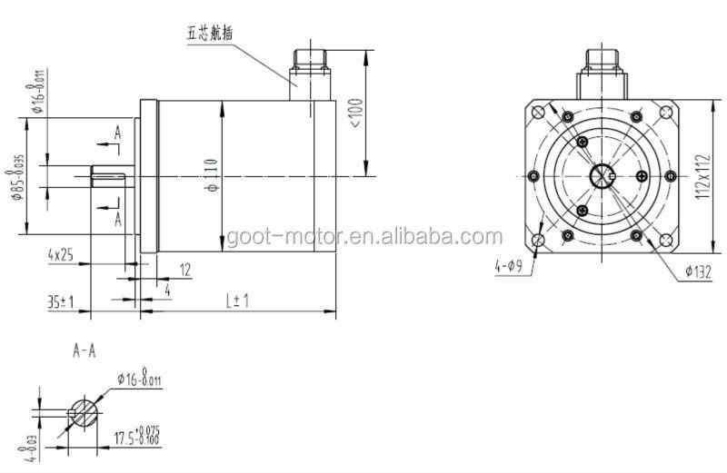 110mm Nema 42 High Torque Hybrid Stepper Motor(1.8 Degree