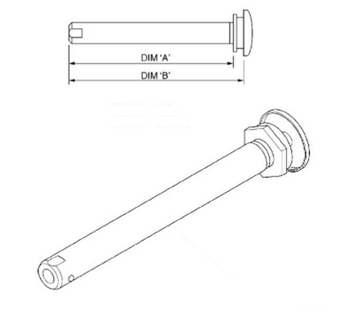 Wheelchair Spare Parts Quick Release Axle With Push Button