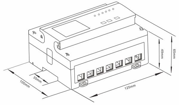Sdm530-modbus Three Phase Four Wires Din Rail Energy Meter