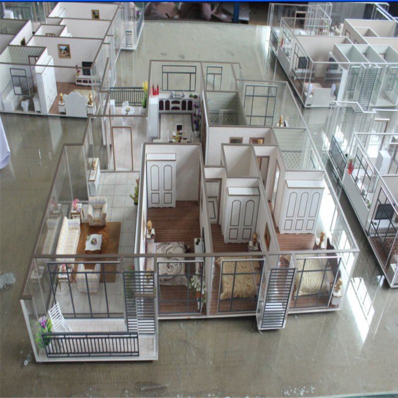Architecture House Model With Miniature Furniture,3d Model