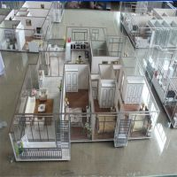 Architecture House Model With Miniature Furniture,3d Model ...