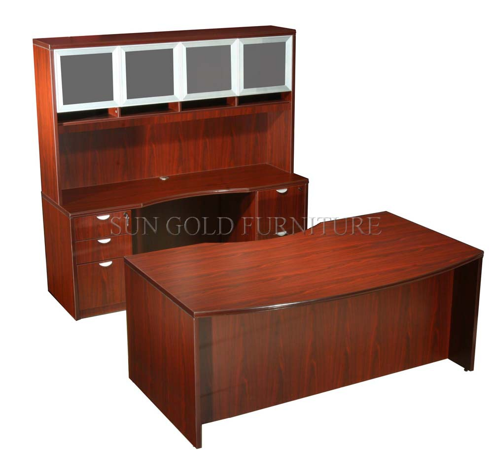 Mdf Modern Executive Desk With Long Cabinet szod256