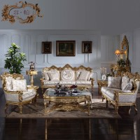 French style living room set classic sofa furniture ...