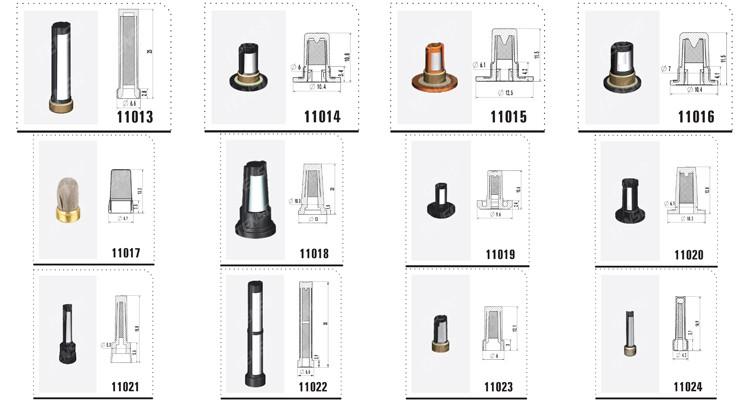 Tenso Asnu02b Micro Filtros Para Inyectores De Gasolina