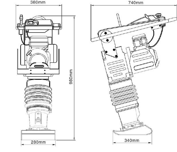 70 kg d'origine Honda gx moteur mikasa pilon, Manuel