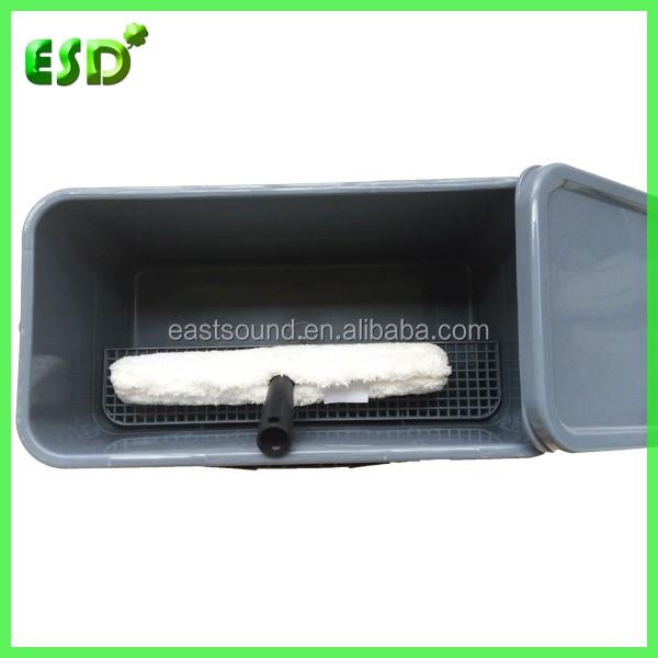 ESD Plastique Rectangulaire Seau Avec Couvercle Fentre