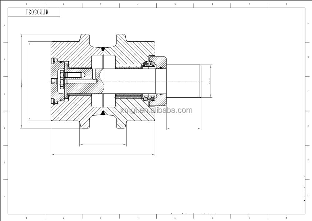 Replacement top roller carrier roller for excavator Doosan